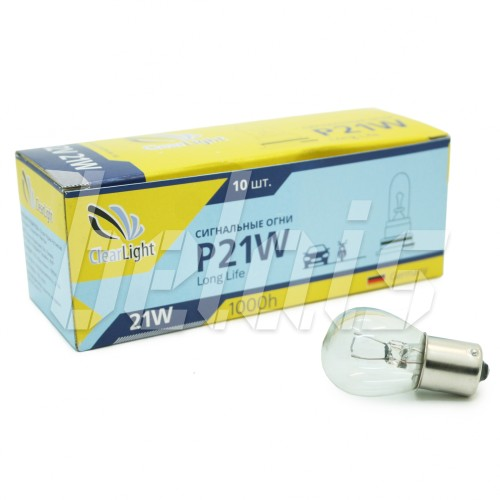 Лампа накаливания «ClearLight» P21W (12V, BA15S)